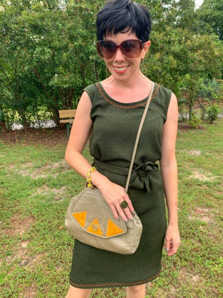 refashionista Fall-ing for Decorative Stitching after with accessories