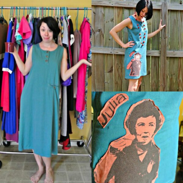 What Would Julia Do? A T-Shirt Appliqué Dress Refashion 4