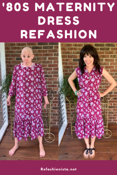 '80s Maternity Dress Refashion 1