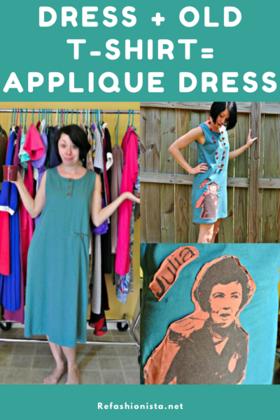 What Would Julia Do? A T-Shirt Appliqué Dress Refashion 3