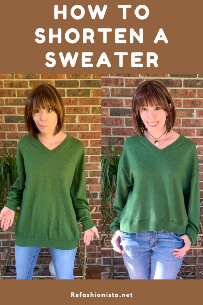 How to Shorten a Sweater (without a Serger!) 4