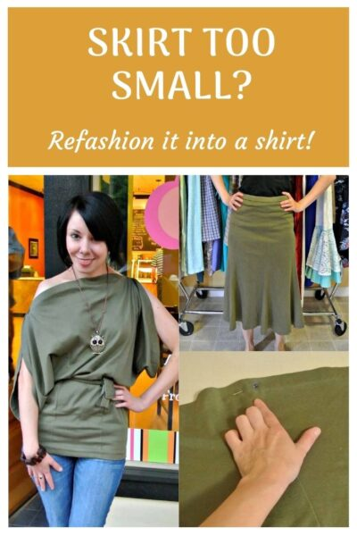 How to Refashion a Too-Small Skirt into a Top 2