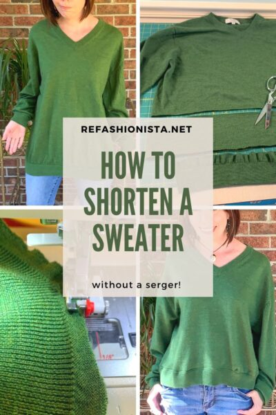 how to shorten a sweater