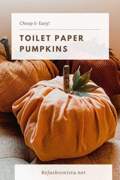 Toilet Paper Pumpkins:  Easy DIY Fall Decor 5