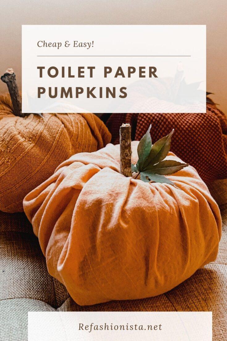 Toilet Paper Pumpkins:  Easy DIY Fall Decor 9