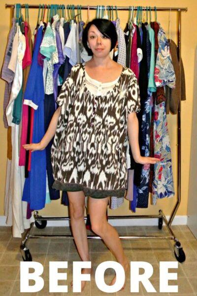 Shirt to Dress Refashion: As Seen on Good Morning America! 5