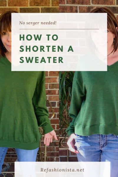 How to Shorten a Sweater (without a Serger!) 3
