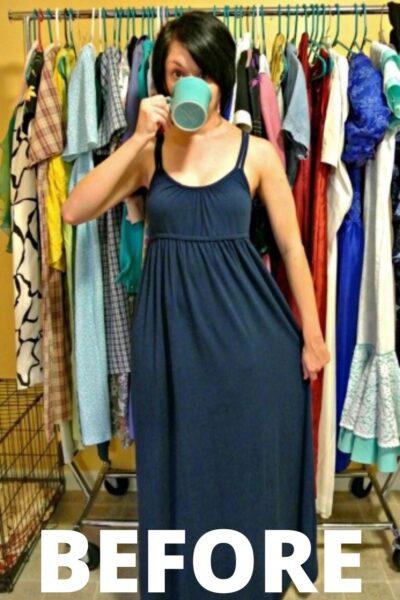 A No-Sew Jersey Maxi Dress Refashion 6