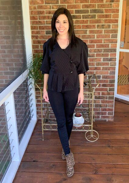 puff sleeve top refashion after