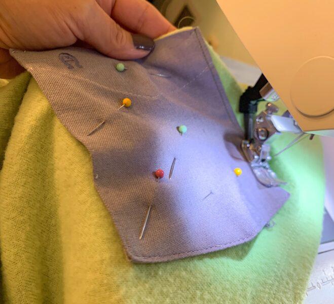 sewing pocket to shirt