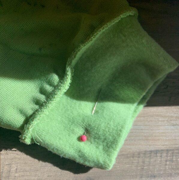 pinned sleeve cuff