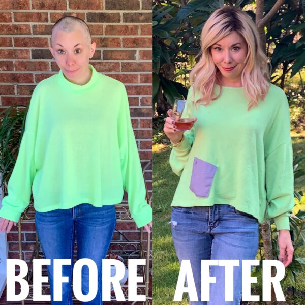 from neon yellow to green and mellow before and after