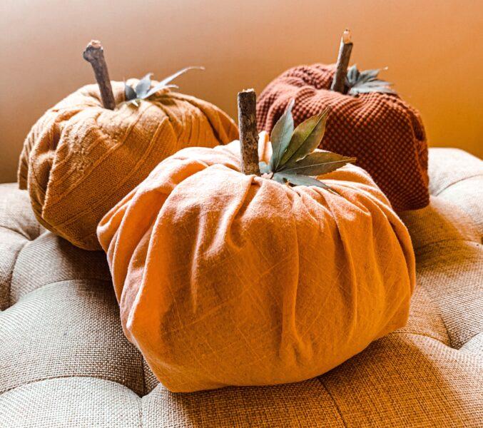fabric toilet paper pumpkins