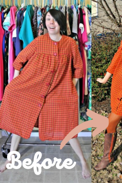 A Happy Thanksgiving Fall Housedress Refashion 1