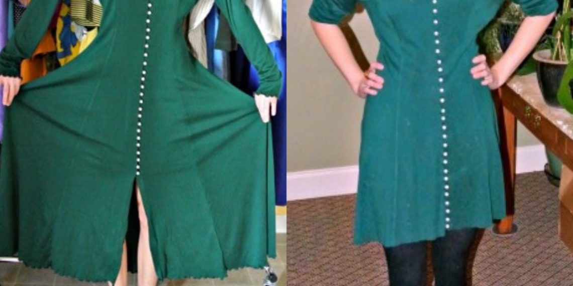 christmas no-sew dress refashion