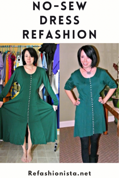 Merry Christmas to Y'all: A No-Sew Dress Refashion 5