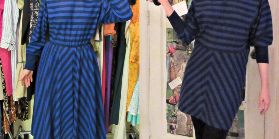 '80s Striped Dress Refashion