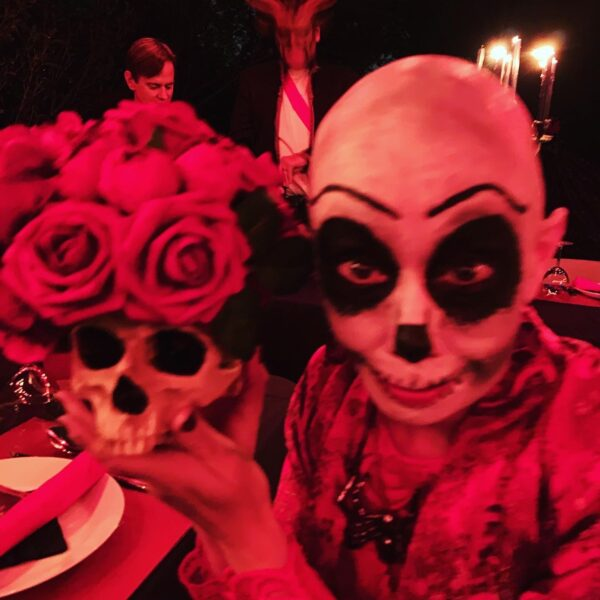 jillian in skull makeup