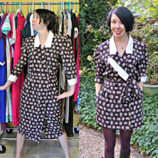 lapel dress refashion