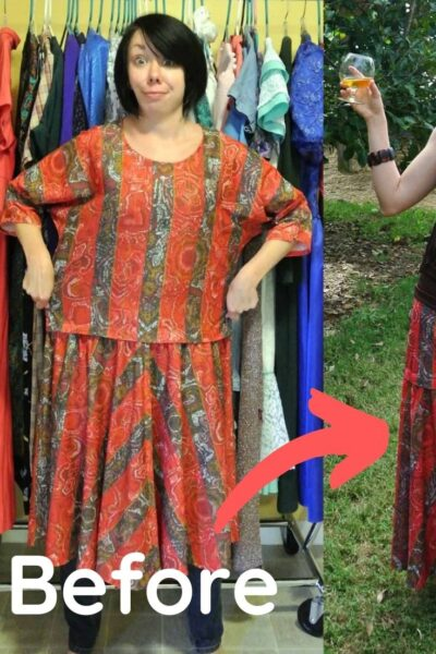 Easy Skirt Refashion