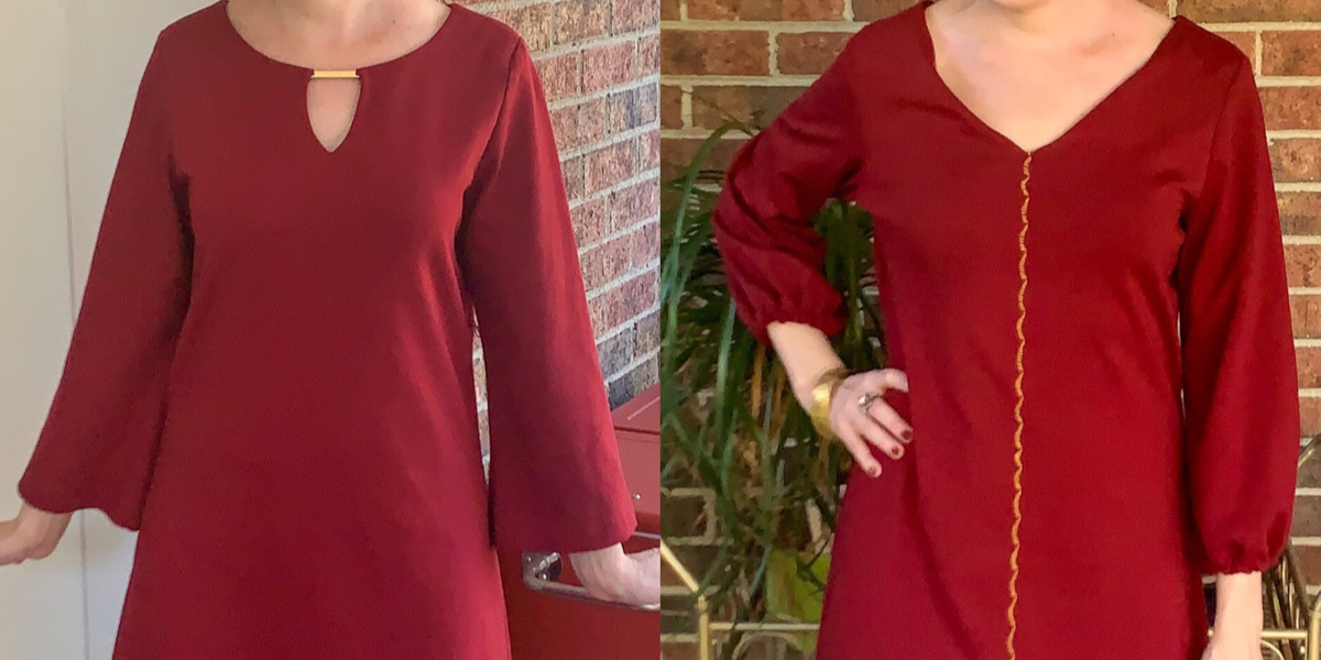 Easy Bell Sleeve to Puff Sleeve Dress Refashion featured image