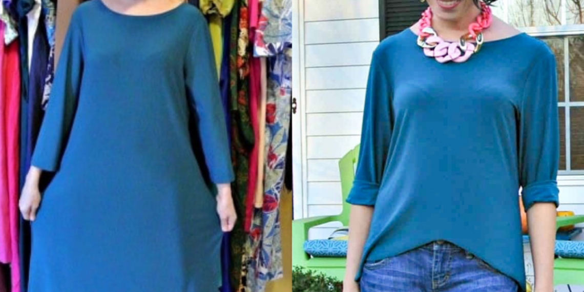 One Dress, Three Ways II: No-Sew Dress to High Low Top Refashion featured image