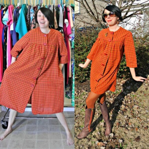 A Happy Thanksgiving Fall Housedress Refashion 3