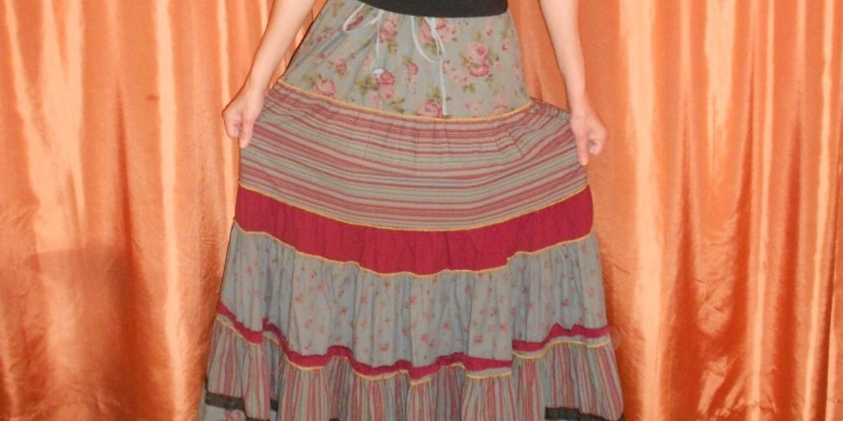 How to Wear a Tiered Skirt as a Halter Dress before and after