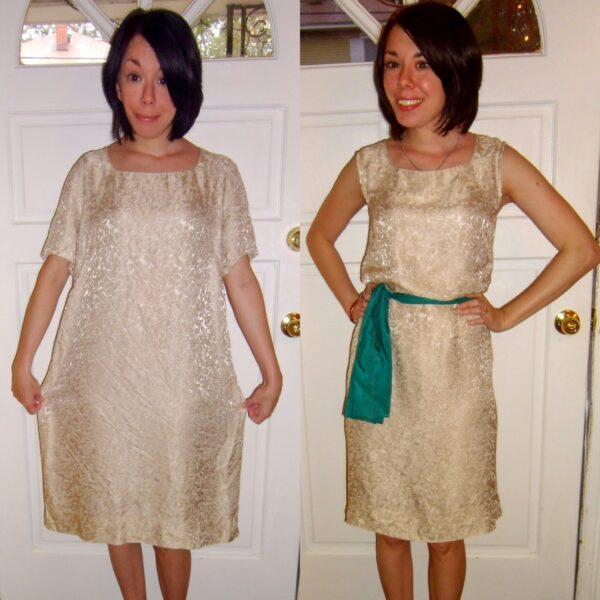 Day 178:  A Merry Christmas Dowdy Dress Refashion 4