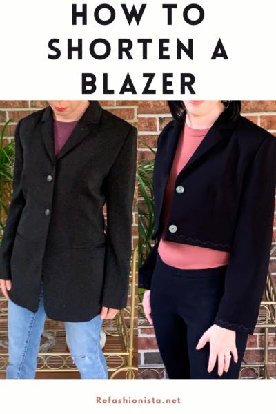cropped blazer refashion