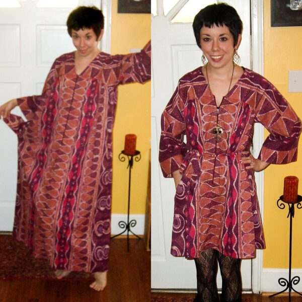 thanksgiving kaftan refashion before and after