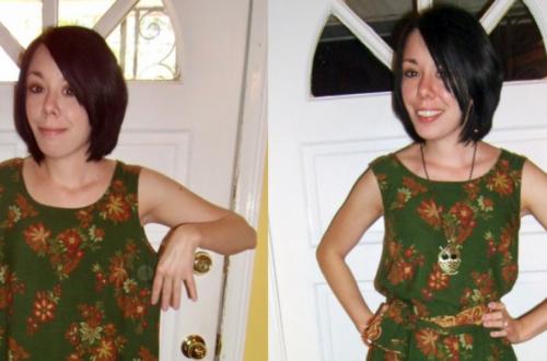 sleeveless dress refashion featured image