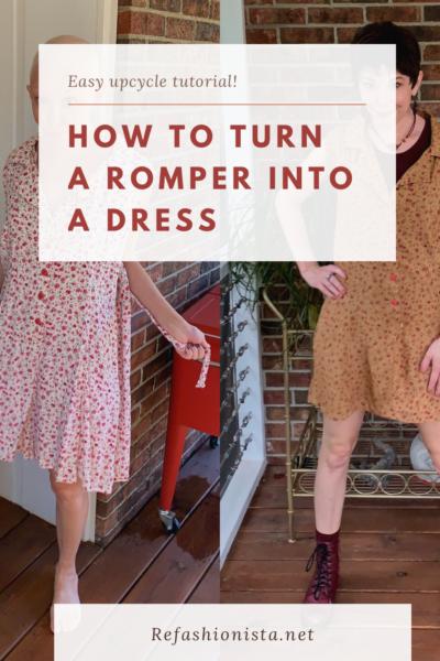 refashionista Romper to Dress DIY