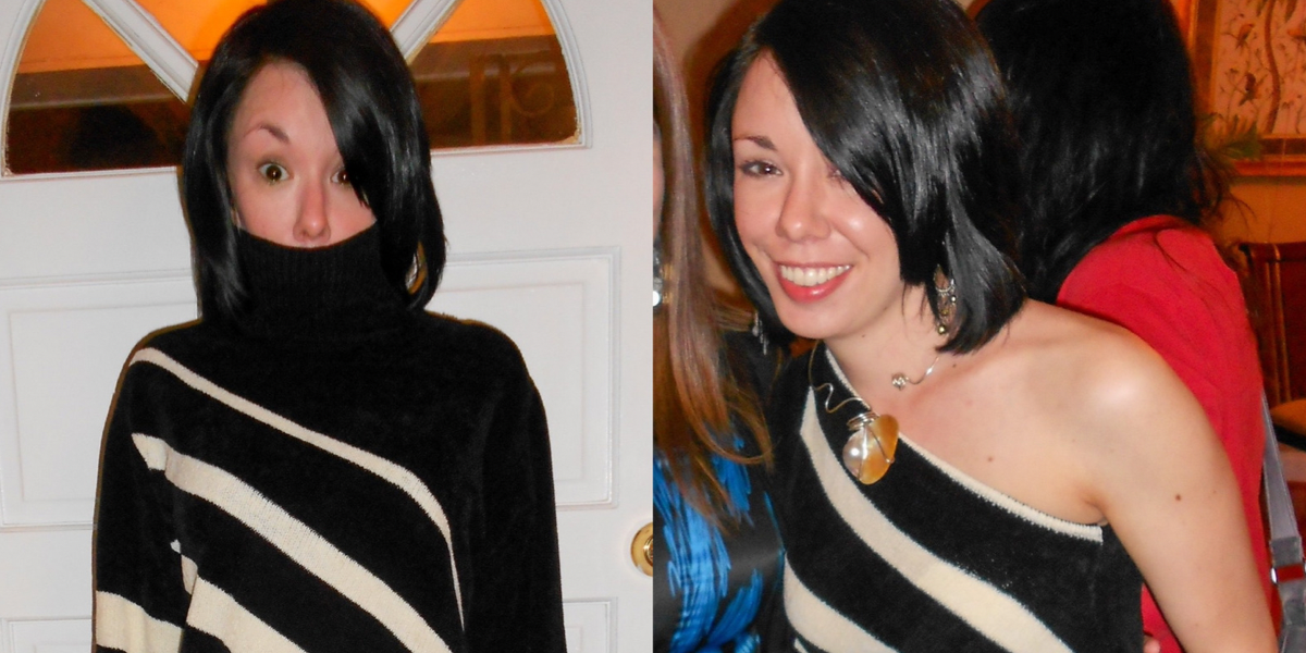 DIY One Shoulder Sweater Upcycle featured image