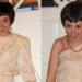 Off-the-shoulder dress refashion
