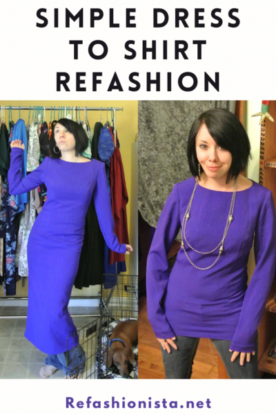 Midnight at the Mountain Oasis:  A Dress to Top Refashion! 6
