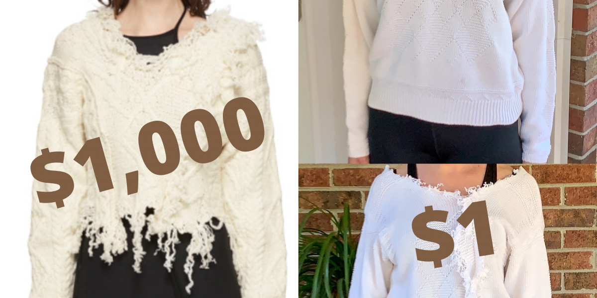 DIY Ottolinger Deconstructed Sweater Knockoff featured image