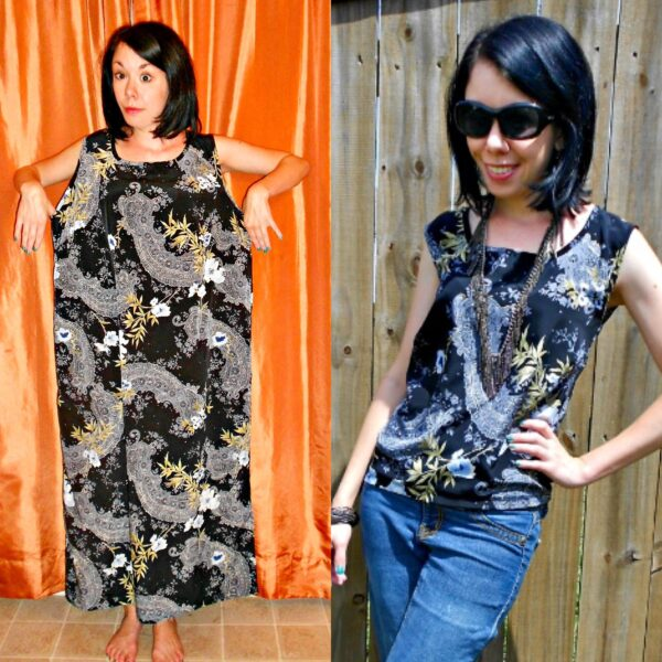 refashioner's block: dress to top refashion