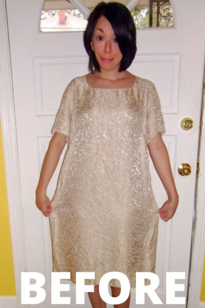 Day 178:  A Merry Christmas Dowdy Dress Refashion 6