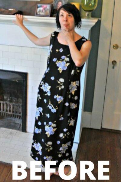 easy dress refashion before