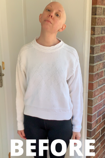DIY Ottolinger Deconstructed Sweater Knockoff before