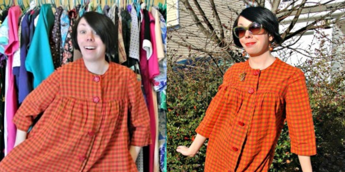 orange housedress refashion featured image