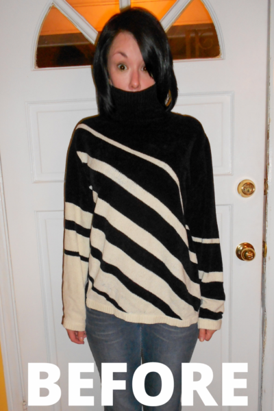 Day 211: DIY One Shoulder Sweater Upcycle 1