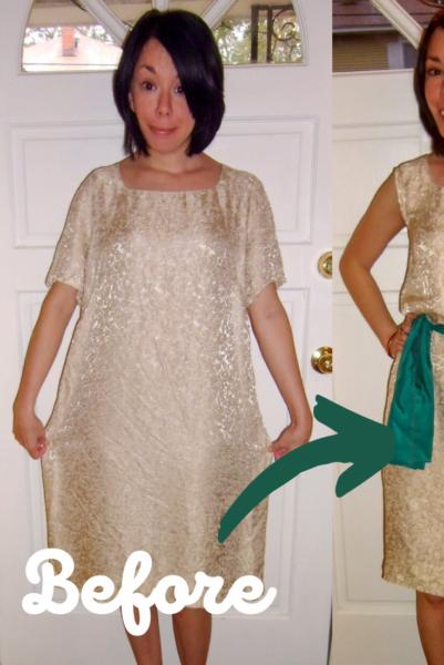 Day 178:  A Merry Christmas Dowdy Dress Refashion 5