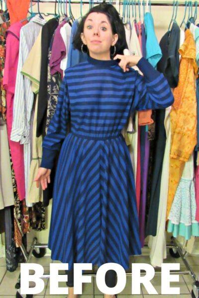 '80s Striped Dress Refashion 6