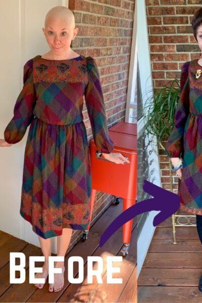 How to raise elastic waist of dress