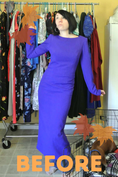 dress to shirt refashion