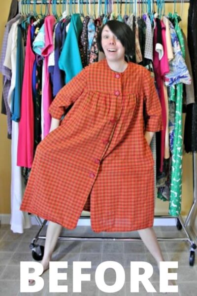 A Happy Thanksgiving Fall Housedress Refashion 2