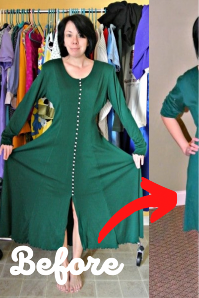 Merry Christmas to Y'all: A No-Sew Dress Refashion 6