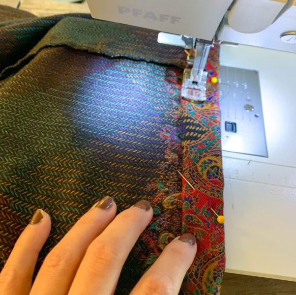 sewing hem on dress